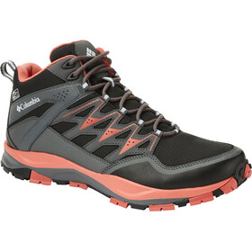 Columbia Wayfinder Mid Outdry Shoes Women Black/Red Coral